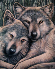 "LOYAL COMPANIONS WOLF  CANVAS ART PRINT BY LISA PARKER 10""H  BY 7.5""W  WP510LP"
