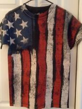 AMERICAN FLAG TSHIRT FADED DISTRESSED Graphic XL  USA PRIDE 4th of July Tee