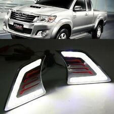 2x White LED DRL Daytime Fog Light Run lamp For Toyota Hilux Vigo Mk7 2011-2014
