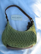 White Stag Mini Hobo Crocheted Handbag, Green, New With Tag