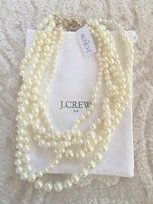 NWT J Crew Multistrand Pearl Statement Necklace with DUST BAG Fast Shipping