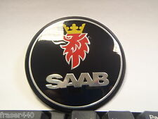 SAAB  BLACK Boot Badge 9-3  & 9-5 68mm/63mm FREE UK P&P