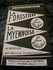 Partition La Forestière La Myennoise Jean Salimbéni Music Sheet Valse Musette
