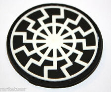 3D PVC PATCH VELCRO BLACK SUN SYMBOL *MILITARY TACTICAL EMBLEM RUBBER