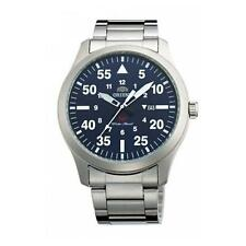 ORIENT MEN'S 42MM STEEL BRACELET & CASE QUARTZ BLUE DIAL WATCH FUNG2001D0