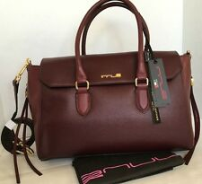 INNUE ELITE CHIANTI Leather Satchel/Made Italy/Purse/Bordeaux/Red Burgundy/NWT