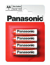 New Genuine Panasonic AA Pack of 4 Zinc Carbon Non-Rechargable Battery Batteries