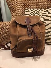Dooney & Bourke Nubuck Brown Backpack SKU# 7645385 - some scuff and pen marks