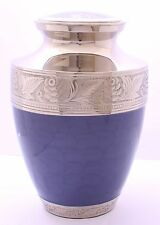 Urn for ashes, Adult Cremation Ashes Urn, Funeral memorial, Purple and Silver