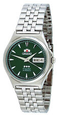 Orient FEM5M010F Men's 3 Star Stainless Steel Green Dial Automatic Watch