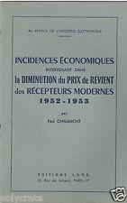 Livret Broché Ancien Ed LEPS P. Chaumont Economie et Prix Recepteurs 1952 53