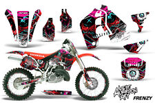 AMR Racing Honda CR 500 Graphic # Kit Wrap Bike Decals MX Parts 1989-2001 FRENZY