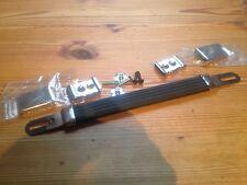 Marshall Style Griff,schwarz mit Silber Beschlägen und Befestigung