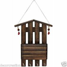 Wooden Handicrafted Sheesham Wood Wall Letter Rack Key Holder Hanger Home Decor