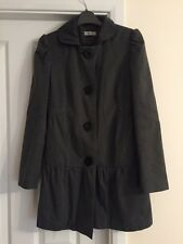 Black And White Spotted Ladies Coat  Size 10