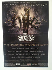 NILE At The Gate Of Sethu 2013 Australian Tour Poster THE FACELESS ***NEW but...