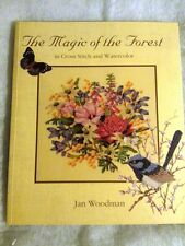 The Magic of the Forest in Cross Stitch & Watercolor-Patterns & Instruction Book