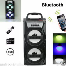 MOBILER BLUETOOTH LAUTSPRECHER MINI STEREO ANLAGE USB SD AUX MP3 PLAYER FM RADIO