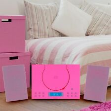 Hifi Audio Sound Musik Stereo Kinder Mädchen Anlage CD-Player Radio AUX-IN pink