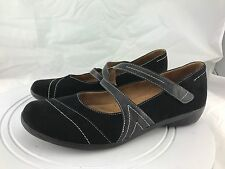 Naturalizer Nelson Black Leather Slip On Strapy Mary Jane Shoes Women's Size 11M