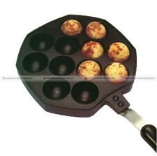 12 Holes Aluminum Takoyaki Octopus Grill Tray Mold Pan with Needle and Brush SM1