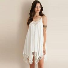 Women Sling Sleeveless Lace Cocktail Party Short Beach Mini Dress WH XXXL