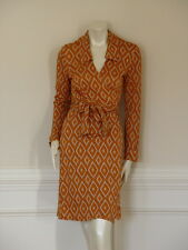 VTG -DIANE von FURSTENBERG JULIE DIAMOND PRINT DRESS - US 10/12/14 -UK 14/16/18