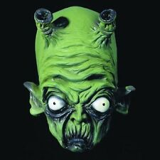 Green Latex Alien Mask UFO Boggle Eyes Adult Halloween Fancy Dress Roswell Space