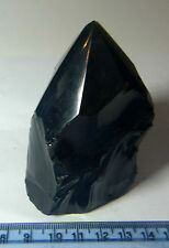 OBSIDIAN NATURAL POINT WAND CRYSTAL A-GRADE GEMSTONE 151g 70mm MEXICO st60