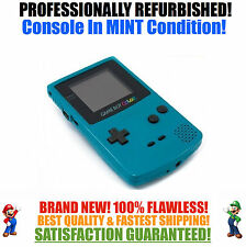 *NEW GLASS SCREEN* Nintendo Game Boy Color GBC Teal System MINT NEW