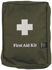 LARGE FIRST AID KIT - TRAVEL - CAMPING - CAR - ARMY - MOLLE BAG - GREEN- NEW