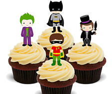 Batman & Friends Edible Cup Cake Toppers, Standup Fairy Decorations Superhero