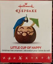 Hallmark 2016 Little Cup of Happy Mini Coconut Santa Mug Ornament - MIB