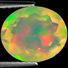 1.71 Ct Natural Ethiopian Faceted Opal Gemstone Multi Color Oval Cut