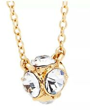 Kate Spade Lady Marmalade Mini Ball Crystal Pendant Necklace Gold