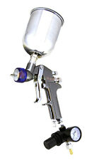 1.3mm HVLP Air Paint Spray Gun w/ Gauge Auto Painting Gravity Feed Tools