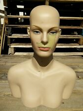 LESS THAN PERFECT MN-514A Female Mannequin Head Display Form with Shoulder Bust