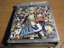 PERSONA 4 ARENA ULTIMAX New PS3 Game with TAROT CARD SET & TEDDIE BOP BAG Lot