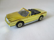 Majorette Gold Mirror Finish Cadillac Allante Car #253 Ech 1:59 France (Mint)