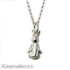 "925 Sterling Silver Peter Rabbit - Beatrix Potter Pendant with 18"" Chain"