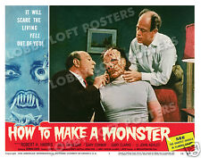 HOW TO MAKE A MONSTER LOBBY SCENE CARD # 2 POSTER 1958 GARY CONWAY PAUL BRINEGAR