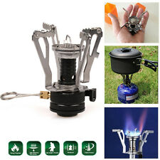 Compact Outdoor Picnic Butane Gas Burner Camping Hiking Folding Mini Steel Stove