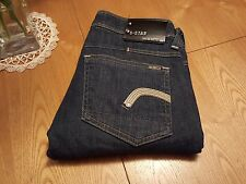 WOMENS G-STAR 3301 RAW DENIM NEW REESE STRAIGHT JEANS 24 X 29 ITALY... NICE!