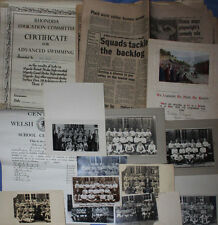 PENTRE SCHOOL'S ARCHIVE A GROUP OF 14 ITEMS EDDIE THOMAS RUGBY COLLECTION