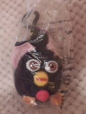Furby Mini Plush Clip On by Tiger Electronics 1999 Sealed Black
