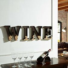 "Danya B HG10196 Metal Wall Mount ""Wine"" Letters Cork Holder NEW"