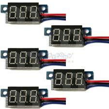 5 PCS Blue LED Panel Meter Mini Lithium Battery Digital Voltmeter DC 3.3V - 30V
