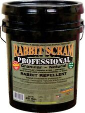 Rabbit Scram Professional 25 Lbs Organic Rabbit Repellent Covers 19,000 Sq Ft