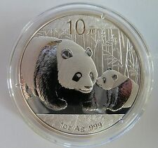 2011 Silver Chinese Panda 1oz .999 Silver Bullion Coin - China 10 Yuan
