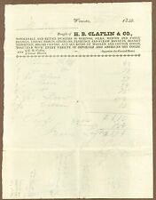 Bill of Sale, H. B. Chaflin & Co., Worcester, Mass., May 7, 1840